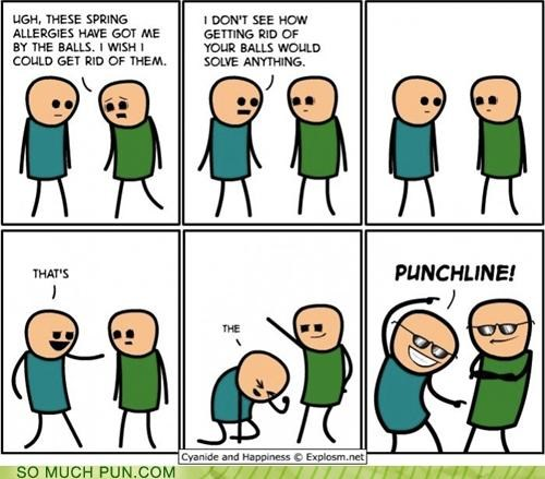 balls,csi,cyanide and happiness,double meaning,meme,misinterpretation,punchline