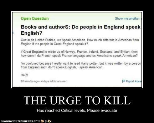 THE URGE TO KILL Has reached Critical levels, Please evacuate