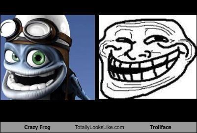 crazy frog Memes troll face - 4697120256