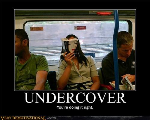 book,train,undercover,wtf
