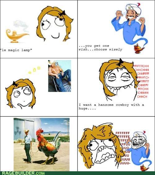 cowboy genie Rage Comics rooster troll - 4697511424