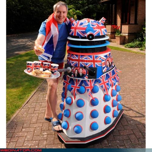 daleks,doctor who,funny wedding photos,kate middleton,prince william,royal roundup,royal wedding,Royal Wedding Madness