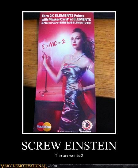 albert einstein equation idiots mastercard wrong - 4698849280