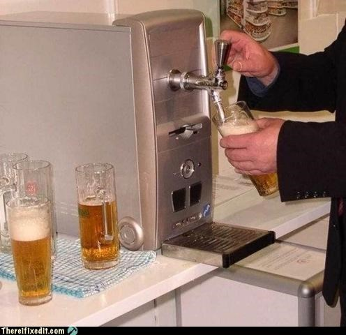 alcohol,beer,computer repair,dual use,keg,tap
