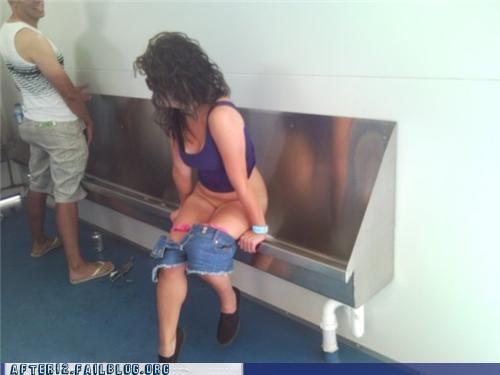 mens-restroom pee urinal - 4698942720