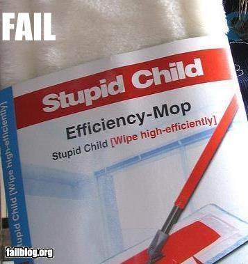 failboat,g rated,kids,mops,names,products