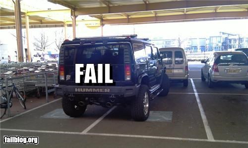 cars failboat g rated hummer obnoxious parking