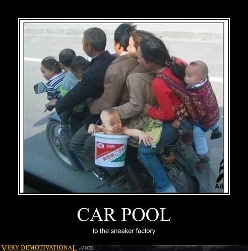CAR POOL to the sneaker factory