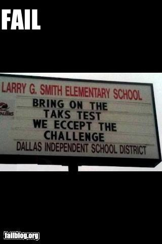 education elementary school facepalm failboat g rated marquee spelling - 4699312384