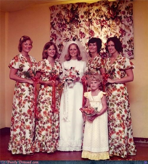 Awkward camo fabric matching wedding