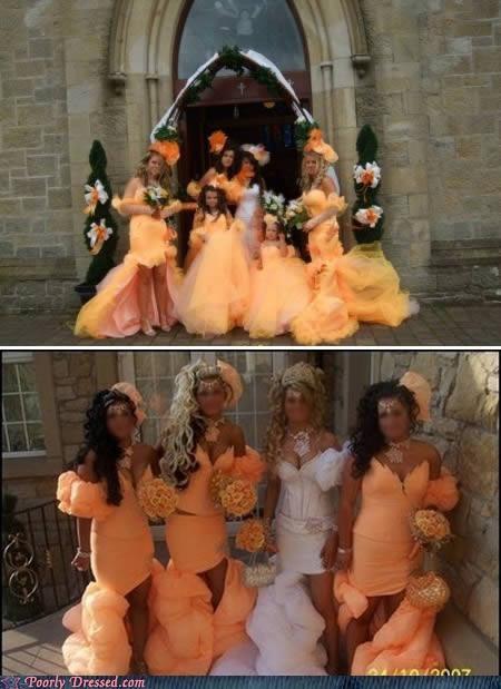 colorful dresses matching wedding - 4699494912