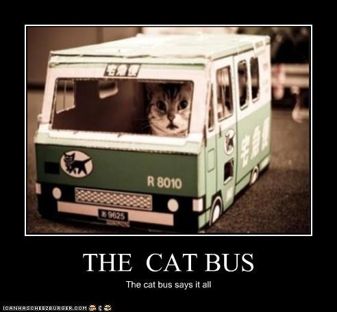 THE CAT BUS The cat bus says it all