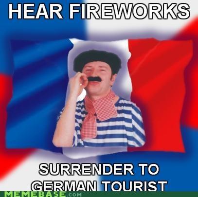 fireworks,frenchman,german,Memes,surrender