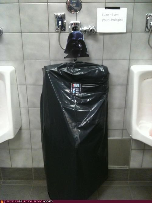 darth vader,star wars,urinal,wtf