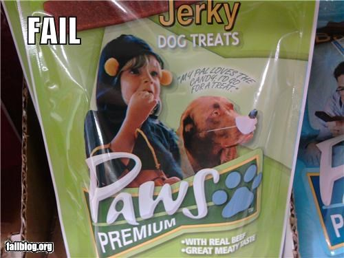 children,dog food,failboat,g rated,oops,packaging,pictures,products