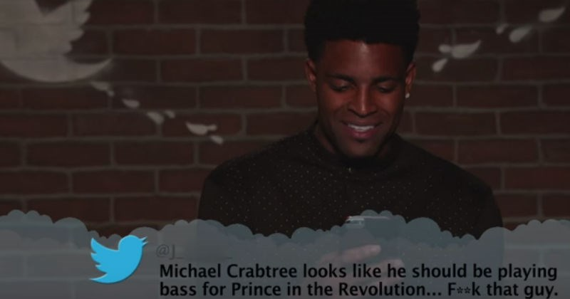 Jimmy Kimmel gets NFL football players to read mean tweets about themselves.