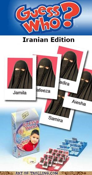burka,guess who,iran,lol prejudice