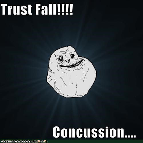 concussion,fall,forever alone,Sad,trust