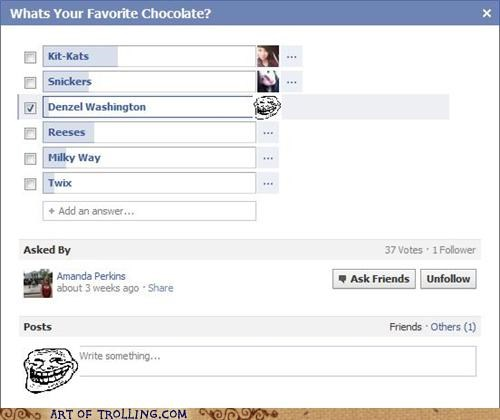 black,chocolate,denzel washington,facebook,racism