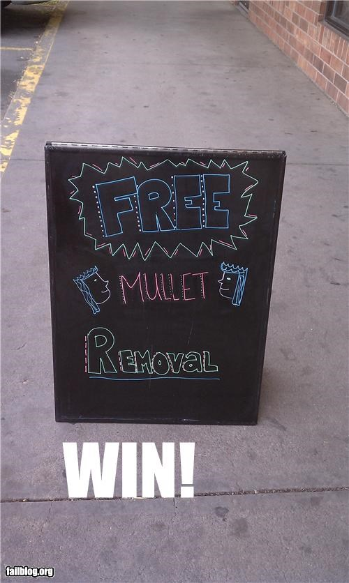 hair mullets removal signs - 4700679936