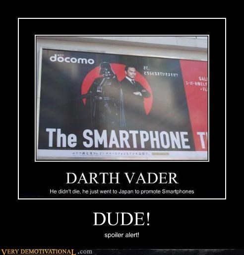 awesome darth vader dude Japan smartphone - 4700750336