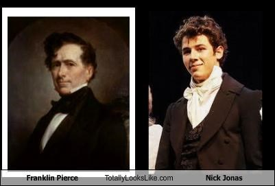 Franklin Pierce,jonas brothers,Nick Jonas,presidents,singers