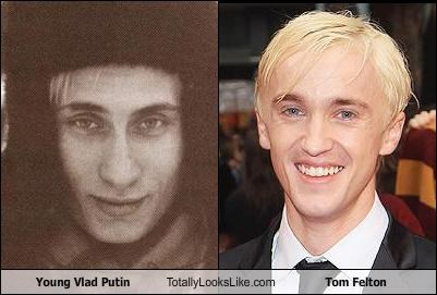 actors Hall of Fame Harry Potter politicians russia tom felton Vladimir Putin young