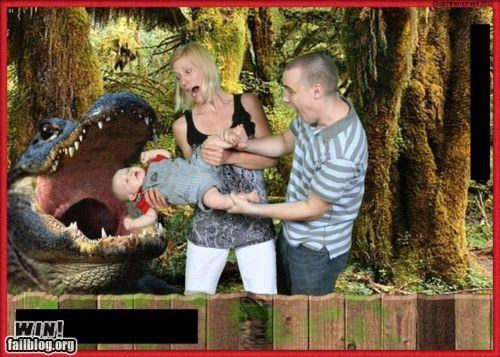 alligator baby family Photo - 4701179648