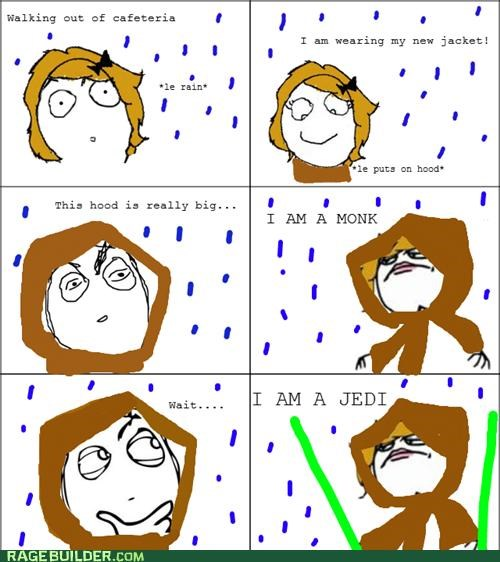 hood Jedi monk Rage Comics rain - 4701491200