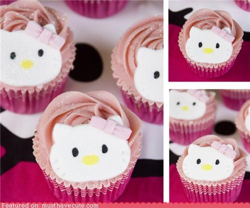cupcakes epicute girly hello kitty pink sparkles - 4702630912