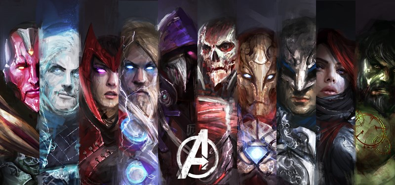 Marvel's Avengers Re-Imagined as Fantasy Heroes