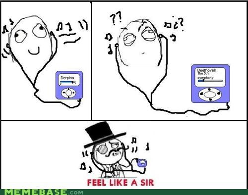 Beethoven,ipod,sir,Rage Comics,top hat