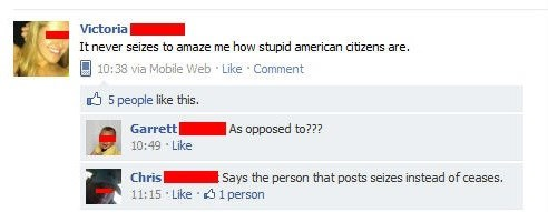 Yeah, Those Stupid Americans...