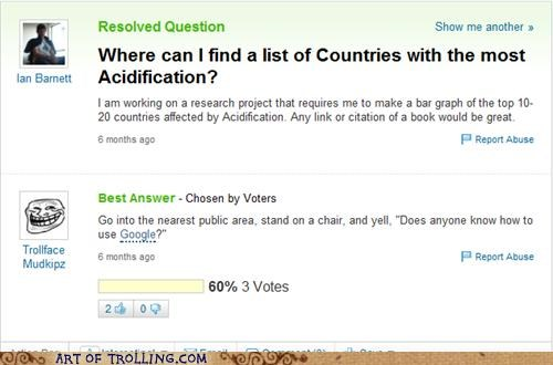 acidification google research school Yahoo Answer Fails - 4702942464