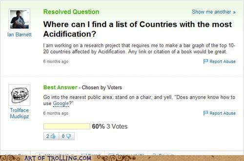 acidification google research school Yahoo Answer Fails - 4702942464