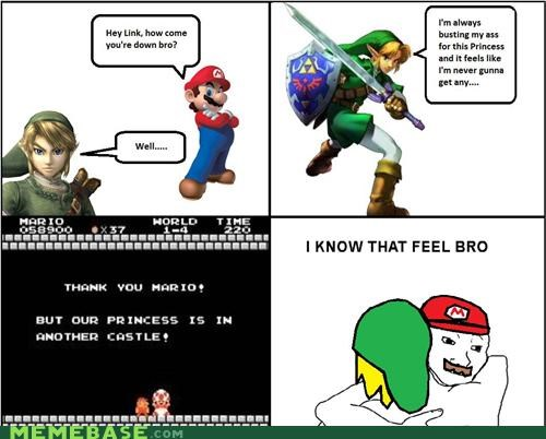 castle,i know that feel,link,mario,Rage Comics,video games