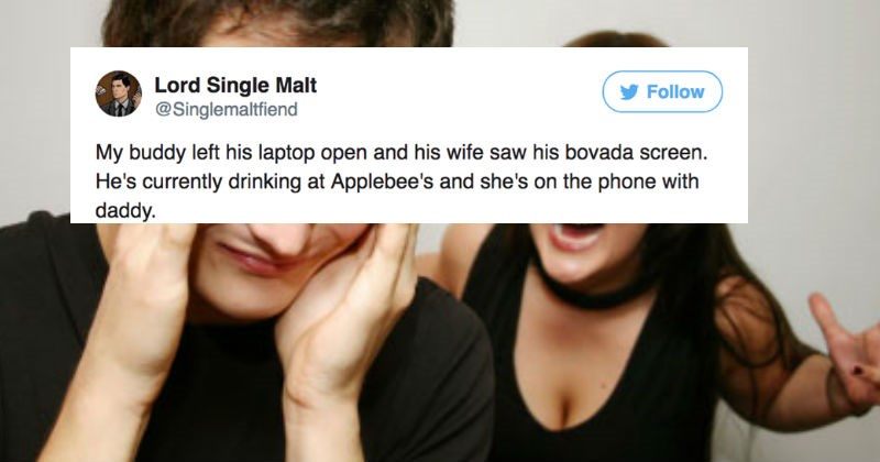 Guy live-tweets the implosion of his buddy's marriage and it's horrifically epic.