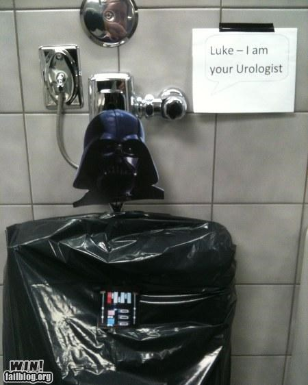 bathroom hacked nerdgasm signs star wars urinal - 4703299584