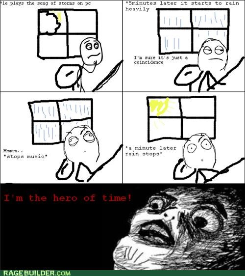 a up down,hero of time,Rage Comics,weather,zelda
