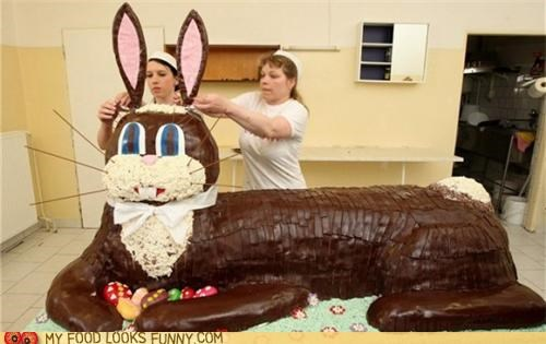 cake chocolate Easter Bunny giant huge large - 4703626496