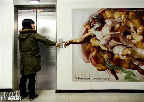 awesome at work elevator religion - 4703636224