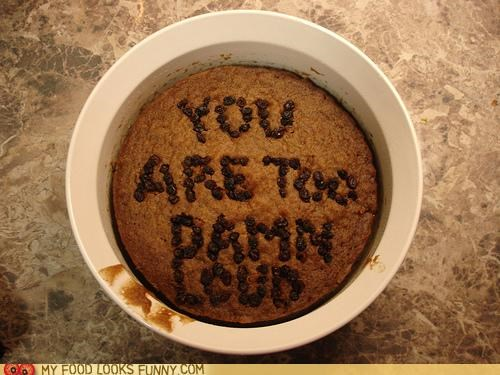 cake decorated message raisins shut up - 4703637248