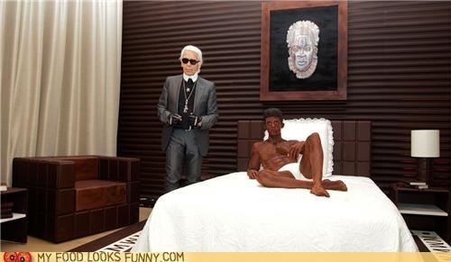 chocolate,designer,hotel suite,Karl Lagerfeld