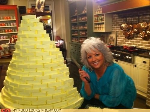 butter,fat,grease,hilarious,paula deen,tower,unhealthy