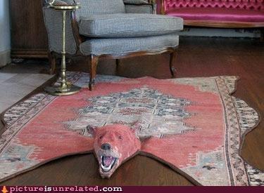 bear rug woven wtf - 4703944960