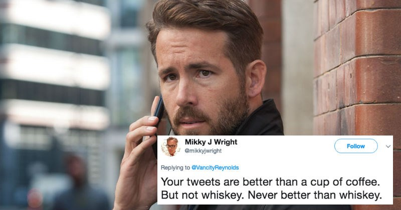 Ryan Reynolds tweets out sassy caption about a cute picture with his family.