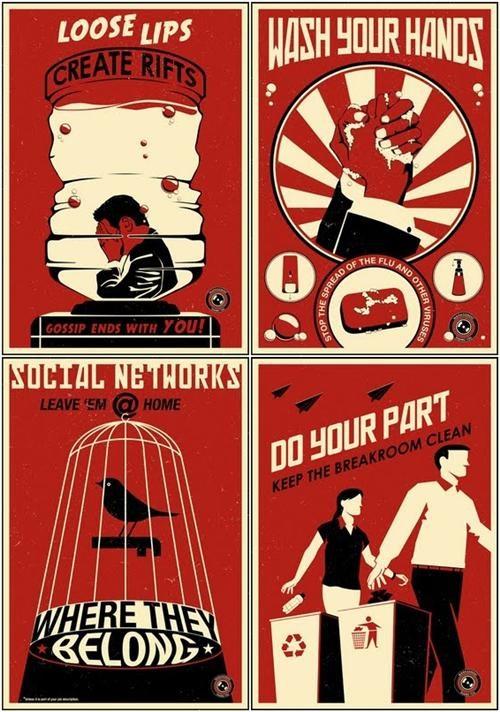 office propaganda,Poster Series,Steve Thomas