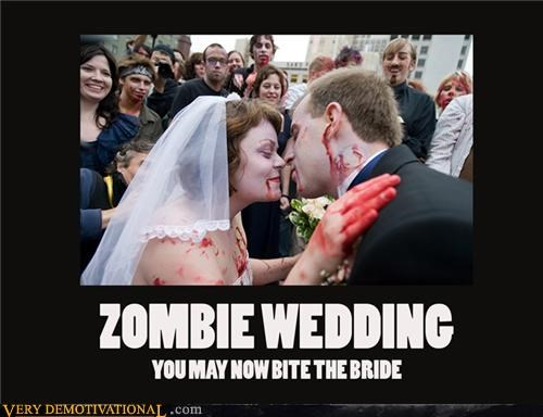 bite bride wedding zombie