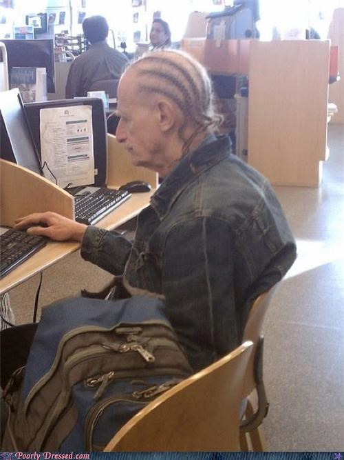 cornrows,old people,poorly dressed,g rated