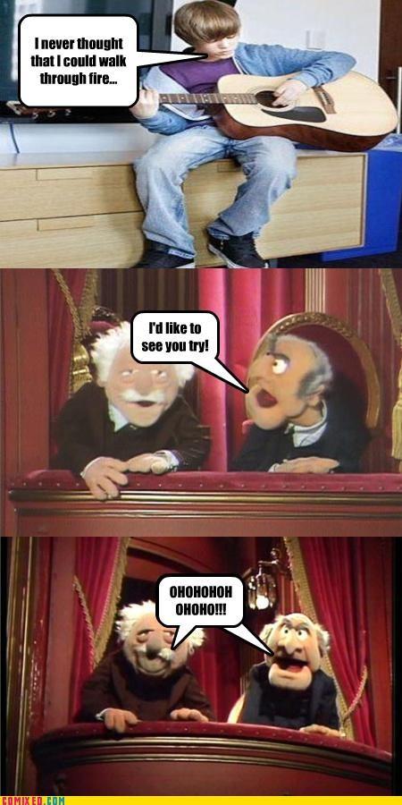 celebutard fire justin bieber muppets - 4704916224